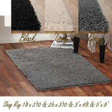 Shag Area Rug Solid Cut Pile Thick Soft Home Polyester Plush Carpet + Size Color