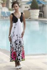 NEW WOMENS MIDNIGHT VELVET FLORAL BORDER MAXI DRESS PLUS SIZE 1X