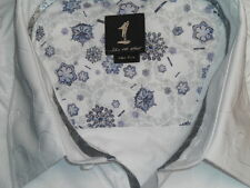 1 Like No Other Casual Shirt. White Embossed. Size Five/ 2XL