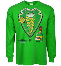 st patricks day t-shirt funny Irish tuxedo green shirt leprechaun tux st pattys