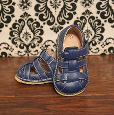 Blue Toddler Boys Squeaky Sandals Shoes, Sizes 3 4 5 6 7 8 9