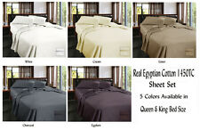 Luxury 1450TC Egyptian Cotton Sateen Sheet Set Queen & King Bed Size 5 Colors