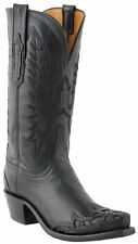 Lucchese N4751 S54 Womens Black Ranch Hand Leather Western Cowboy Boots