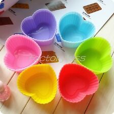 DIY Silicone Cake Muffin Chocolate Cupcake Case Liner Baking Cup Mould 7CM QH9