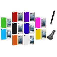 Ultra Thin Color Hard Rubberized Case Cover+Charger+Pen for iPod Touch 5th Gen