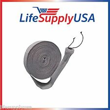 KNITTED CENTRAL VACUUM HOSE COVER SOCK 30, 35, 50 FT VACSOCK W APPLICATION TUBE