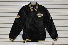 Los Angeles Lakers Black Satin Jacket By JH Design 100% Authentic NBA Product