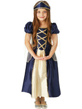Girls Medieval Renaissance Princess Tudor Costume Kids Fancy Dress Book Week