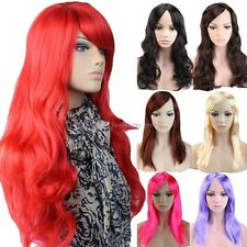 Sexy Lady long Straight Curly Full Head Wig Cosplay Party Daily Dress Thick S28