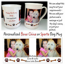 Personalised Dog Mug, Bone China, Personalised Pet Mug, Any Pic and Message