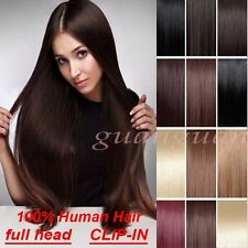 Cheap Price 100% Remy Human Hair Extensions Full Head 100% REAL Deluxe Weave T92
