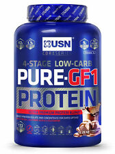 USN Pure GF 1 2kg Whey Protein Muscle Growth Amino Acids Glutamine & Free Shaker