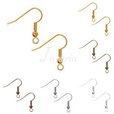 146pcs Approx Antique Copper Jewelry Flat Coil Earring Hook Ear Wires 30g 18mm