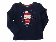 NWT Girls Gymboree Christmas Holiday snowman long sleeve shirt 6-12 months 2T 3T