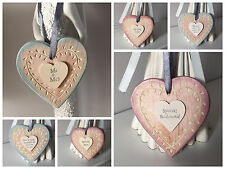 East of India Wooden Leaf Heart Wedding Shabby Chic Vintage Bridesmaid Teacher