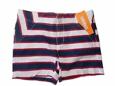 NWT Girl's Gymboree Star Spangled Banner July 4th striped adjustable shorts 6 8