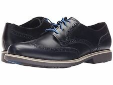 Men's Shoes Cole Haan Great Jones Wingtip Leather Oxfords C21670 Blazer Blue New