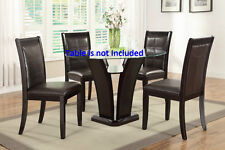 Contemporary Faux Leather Dining Chairs Dark Brown Breakfast chair furniture set