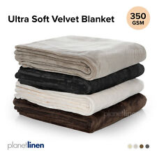 Bianca ULTRA SOFT BLANKET Single King Single Double Queen King Super King Cot