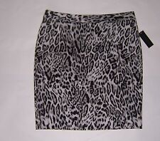 Worthington Women's Gray, Black & White Animal Print Skirt Size 12  NWT!