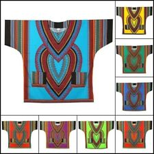 Dashiki Shirt African Blouse Hippie Vintage Top Boohoo Tribal Dress Shirt 1 Size