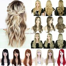 "Ombre 23"" Long Full Head Wig Cosplay Party Daily Dress Vogue Stylish Blonde ST"