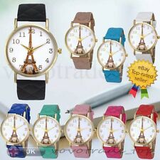 NEW Fashion Women Watch Ladies Girls PU Leather Analog Quartz Casual Wrist Watch