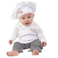 Infant baby Boys Cotton Cook Chef Outfits T-shirt Pants Hat Photo Props Costume