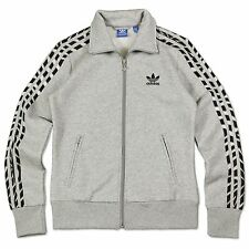 ADIDAS ORIGINALS FIREBIRD FLEECE ZEBRA TRACK TOP JACKET LADIES TRAINING GREY