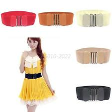 Hot Women's Waist Belt Elastic Wide Belt Stretch Cinch Buckle Bow Waistband