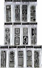 Stampendous Perfectly Clear Stamp Sets Flower Tech Doodle NEW Multi= FREE  SHIP