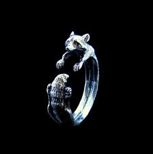 Silver Raccoon Ring, Racoon Ring, Animal Ring, Coon Silver Ring, Animal Jewelry