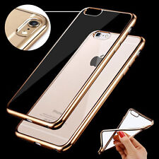 Thin Clear Crystal Rubber Plating Bumper TPU Soft Case Cover For iPhone5 6s SE