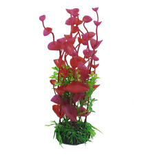 "8"" Height Artificial Red Green Plants Aquarium Aquascaping Tank Decor"