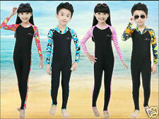 Kids Anti UV Swimwear Coverall Wetsuits Surfing Swimming Diving Suit Boys Girls