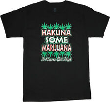Hakuna Marijuana funny weed pot t-shirts for men 420 stoner shirt
