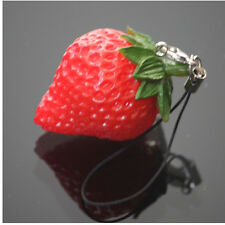 1PCS Cute Simulation fruit Cell Phone Charm Bag Strap Keychain Pendant Decor