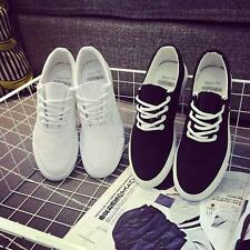 Men Breathable Lace up Canvas Shoes Pumps Skateboard Trainers Sport Sneakers