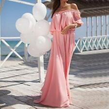 Summer Ladies Boho Long Maxi Dress Sexy Off Shoulder Beach Party Cocktail Dress