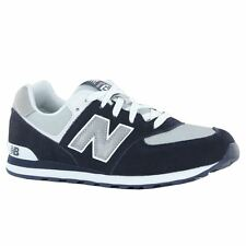 New Balance KL 574 Classics Traditionnels Navy White Youths Trainers