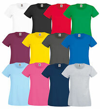 FRUIT OF THE LOOM LADIES LADY-FIT T-SHIRT ORIGINAL VARIOUS COLORS XS-2XL NEW