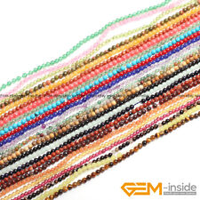 Natural Assorted Stones Tiny Seed Spacer Loose Beads For Jewellery Making 15""