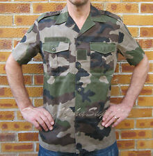 VINTAGE URBAN LOOK FRENCH ARMY SURPLUS CENTRAL EUROPEAN CE CAMO S/SLEEVE SHIRT