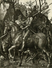 "Albrecht Durer : ""Knight, Death and the Devil"" (1513) — Giclee Fine Art Print"