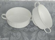 2 VTG Rosenthal Germany China White Variations Footed Cream Soup Bowls Handles