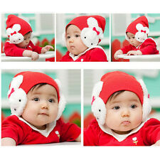 1 X Baby Rabbit Hats Toddler Kids Winter Ear Flap Warm Hat Beanie Cap