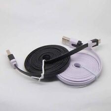 2M/6ft Flat Noodle Micro USB Charger Sync Data Cable for Android Mobile //sx