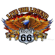 Biker Route 66 Eagle T-Shirt 4307 white LS
