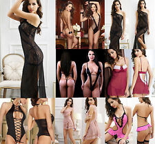 Sexy Women Transparent Erotic Temptation Lingerie Lace Dress Sleepwear Underwear