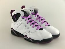 Air Jordan Retro 7 VII GS GG White Fuchsia Mulberry 442960-127 Nike Girls Purple